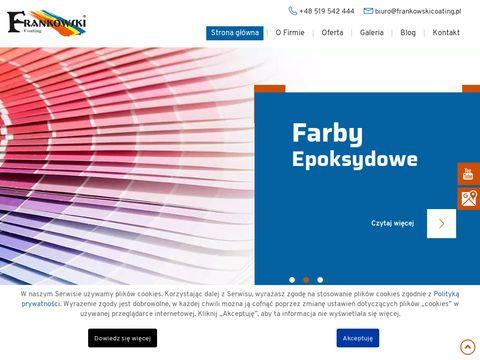 Frankowskicoating.com.pl dystrybutor farb