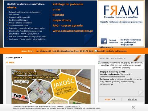 Gadżety Reklamowe, długopisy z nadrukiem, nadruki, upominki - FRAM