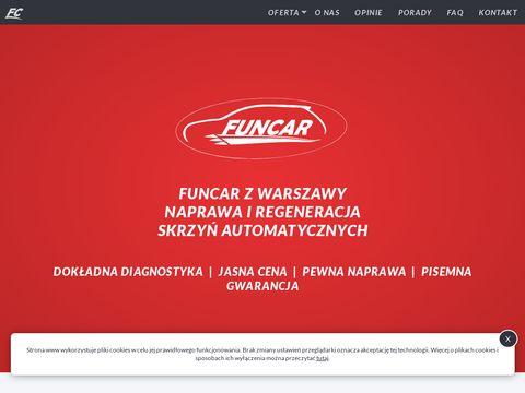 Funcar.com.pl naprawa automatycznych skrzyń biegów