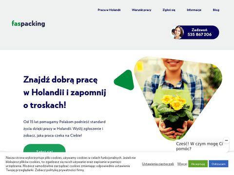 Faspacking.pl oferty pracy Holandia