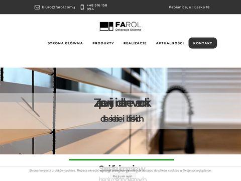 Farol.com.pl rolety Łódź