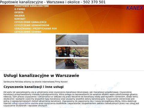 Kanex czyszczenie kanalizacji Warszawa