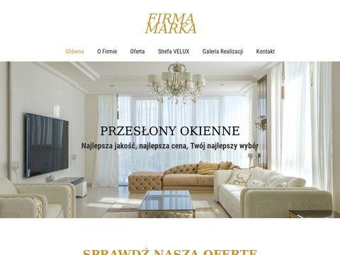 Firmamarka.pl rolety, żaluzje, plisy, verticale, moskitiery