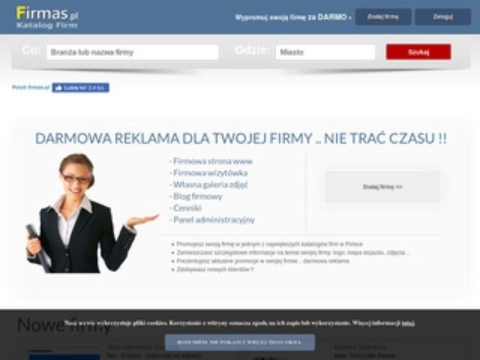 Firmas.pl katalog usług - darmowe strony dla firm