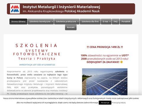 Fotowoltaika.edu.pl darmowe szkolenia