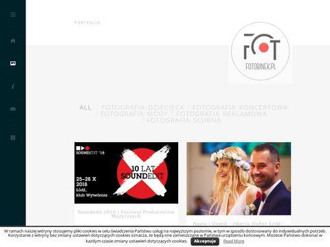 Fotobinek.pl fotografia ślubna, zdjęcia ślubne, łódzkie