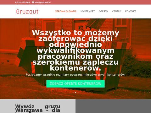 Gruzout.pl kontenery na śmieci w Warszawie