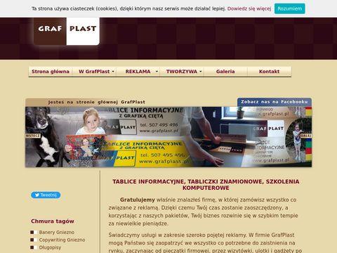 GrafPlast Gniezno - reklama dla firm i nie tylko