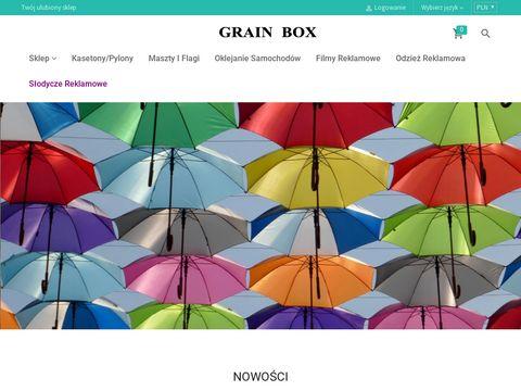 Grain-box.pl upominki reklamowe odzież i słodycze