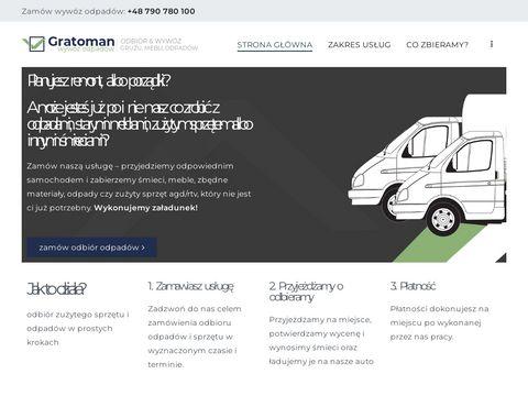 Gratoman.pl wywóz śmieci Bydgoszcz