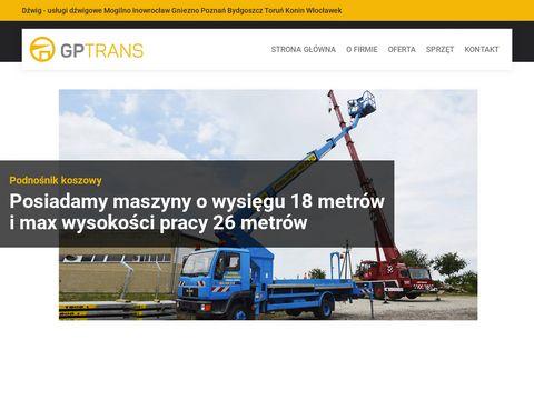 Gptrans.com.pl usługi dźwigowe