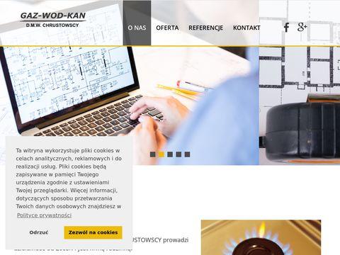 Gwk-chrustowscy.pl projekt instalacji gazowej