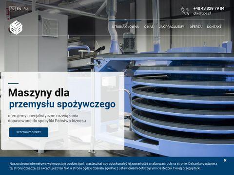 Gbe.pl producent maszyn dla przemysłu spożywczego