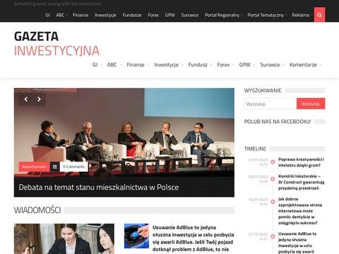 Gazetainwestycyjna.pl - portal inwestycyjny