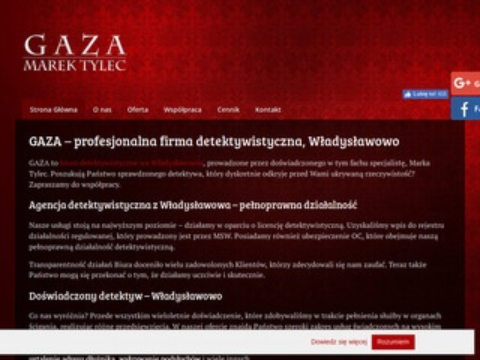 Gaza Marek prywatny detektyw Władysławowo