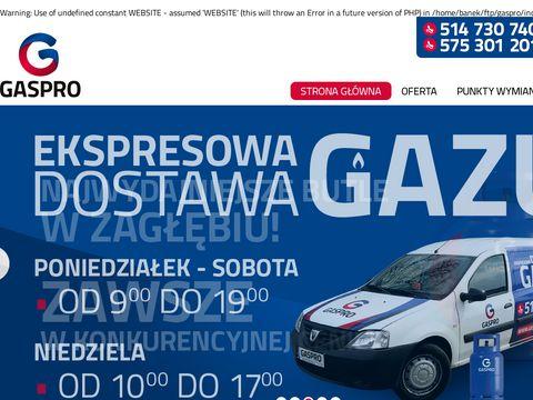 Gaspro - wymiana butli