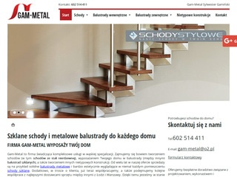 Gam-Metal balustrady szklane zewnętrzne Warszawa