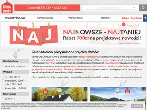 Galeriadomow.pl projekty domów jednorodzinnych