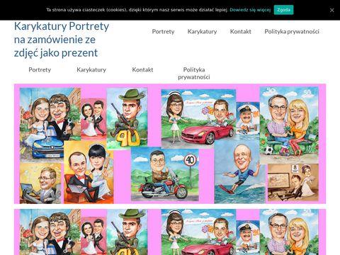 Galeria-krakowska.com prezenty karykatury
