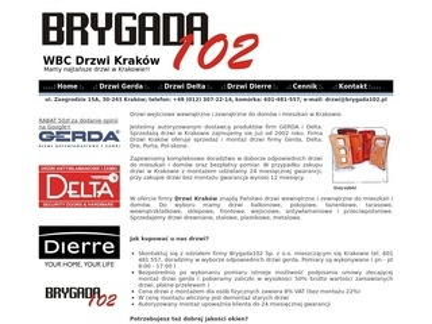 Gerda.malopolska.pl tanie drzwi w Krakowie
