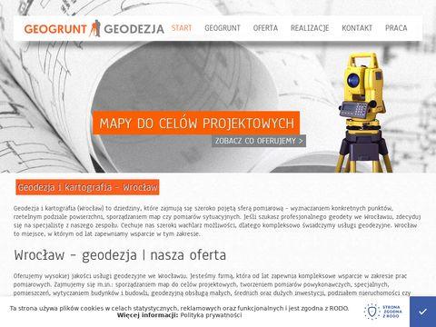 Geogrunt.eu geodezja - Wrocław i okolice
