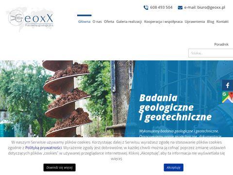 Geoxx Olsztyn usługi geologiczne