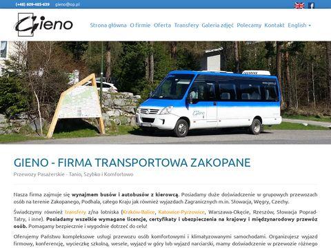 Bus Zakopane Transport, Wynajem Busów Zakopane