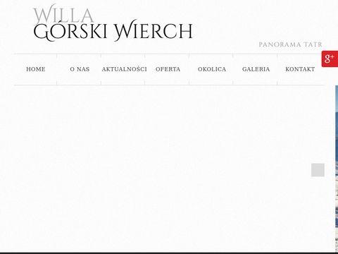 Gorskiwierch.pl willa