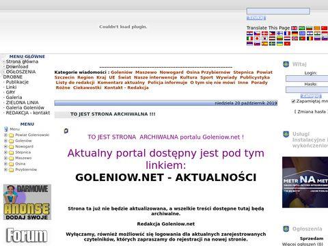 Goleniow.net.pl - portal mieszkańców