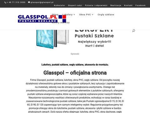Glasspol.pl pustaki szklane EI 30 i EI 60, szkło budowlane