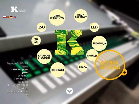 Kolumb druk wizytówek Katowice