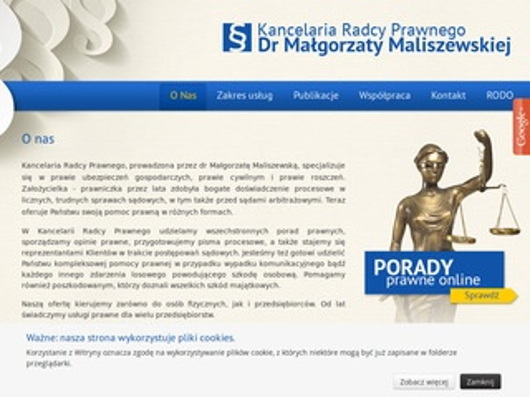 Radca Prawny Dr Małgorzata Maliszewska