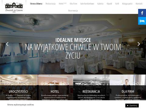 Dworekzalasem.com.pl restauracja hotel