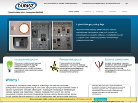 Durisz.pl instalacje elektryczne, pomiary elektryczne