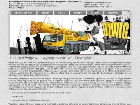 Dźwig-Mar usługi dźwigowe