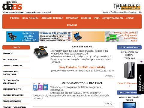Daas.com.pl kasy drukarki fiskalne aplikacje do firm