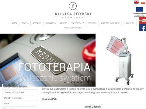 Dermatologiazdybski.pl leczenie znamion