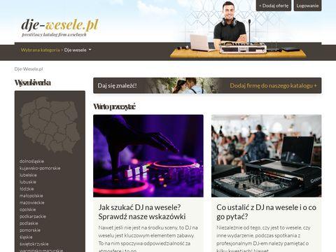 Dje-wesele.pl - katalog