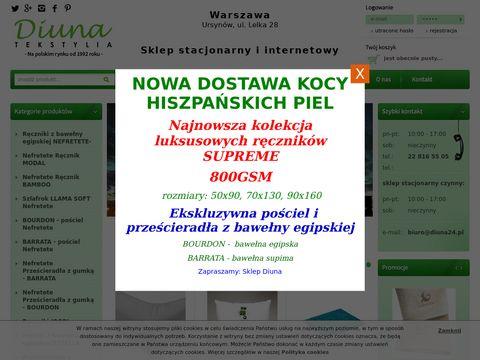 Pościel satynowa bawełniana od firmy Diuna