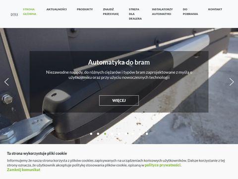 Ditex.com.pl automaty do bram garażowych