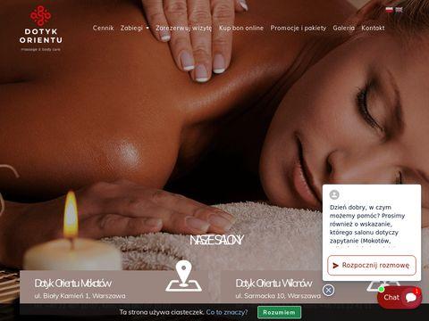 Dotyk-orientu.pl salon masażu Warszawa