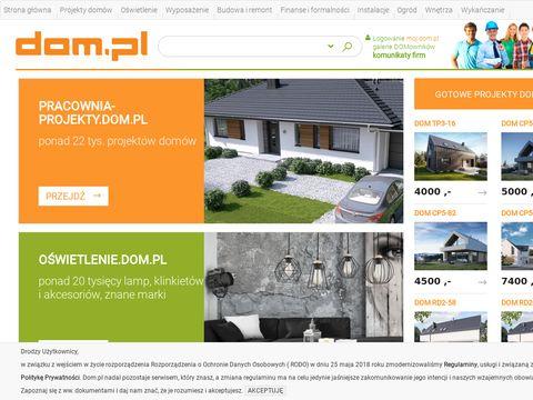 Dom.pl - budowa i projekty domów
