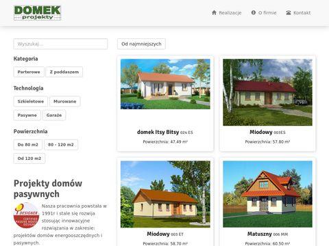 Domek.net.pl gotowe projekty domów jednorodzinnych