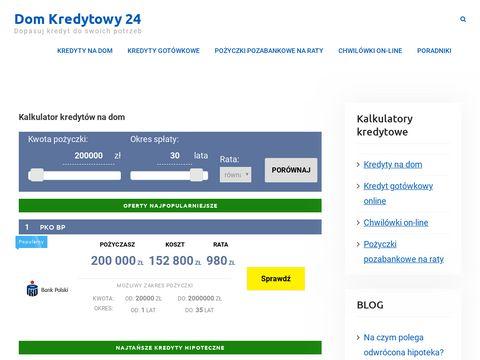 Domkredytowy24.pl - Najlepsze banki w jednym miejscu