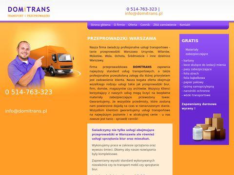 Domitrans.pl tanie przeprowadzki ursynów