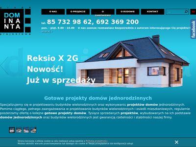 Dominanta gotowe projekty domów jednorodzinnych