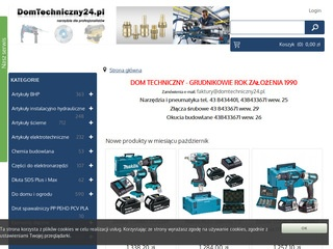 DomTechniczny24.pl - Narzędzia i elektronarzędzia