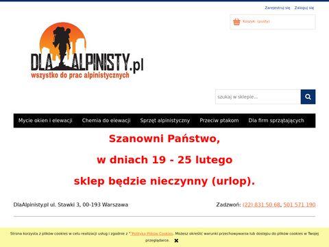 Dlaalpinisty.pl alpinistyka przemysłowa - sklep