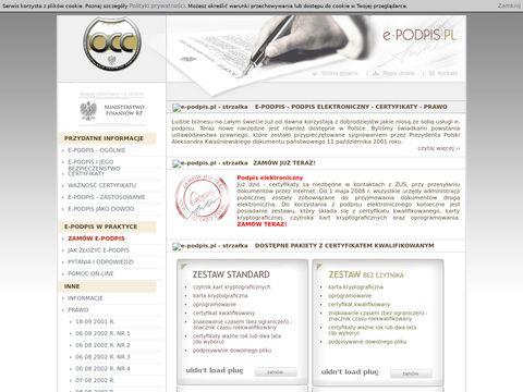 E-podpis.pl certyfikat kwalifikowany