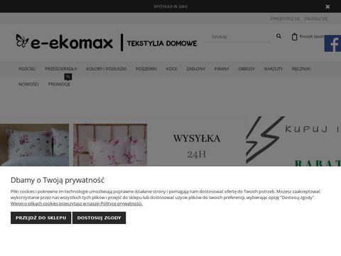 E-ekomax.pl prześcieradła jersey i frotte
